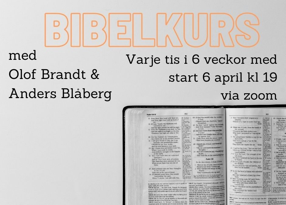 Bibelkurs – start 6 april